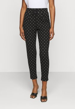 ONLY Petite - ONLPOPTRASH EASY DOT PANT - Stoffhose - black