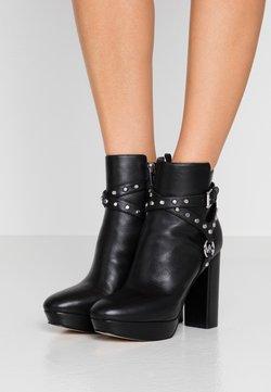 MICHAEL Michael Kors - PRESTON PLATFORM - High heeled ankle boots - black