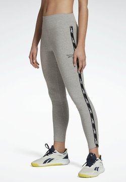 Reebok - REEBOK VECTOR TAPE LEGGINGS - Tights - grey