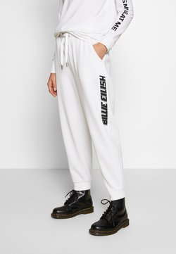 ONLY - ONLBILLIE EILISH LOGO PANTS - Jogginghose - bright white