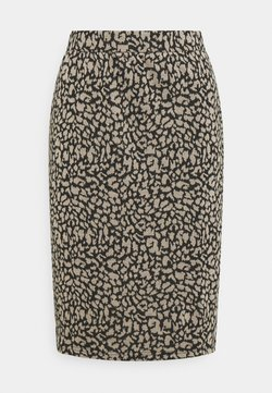 Vila - VIMINNY PENCIL SKIRT - Bleistiftrock - black/leo