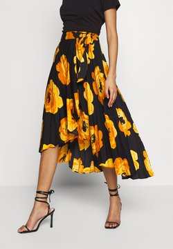 Who What Wear - THE WRAP MIDI SKIRT - A-line skirt - black