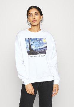 Even&Odd - Loose Fit Printed Sweatshirt - Sweatshirts - white