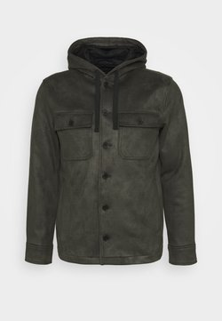 GAP - BUTTON HOOD - Imitatieleren jas - wilderness green