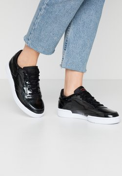 Reebok Classic - CLUB C 85 - Sneakersy niskie - black/neo red/white