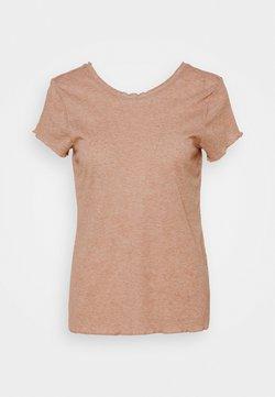 Nike Performance - YOGA CORE LAYER - Camiseta básica - desert dust/heather/fossil stone