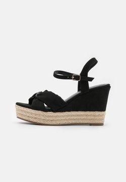 Anna Field Wide Fit - Korkeakorkoiset sandaalit - black