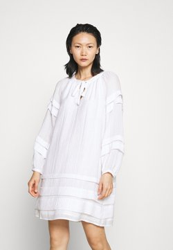 Club Monaco - PINTUCK MINI DRESS - Vestito estivo - white