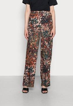 Esprit Collection - FLARED LEG - Stoffhose - dark khaki