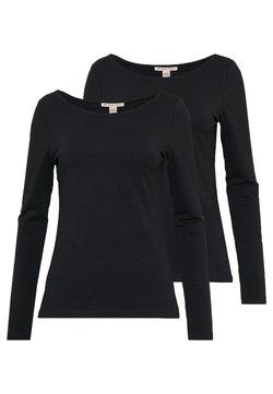 Anna Field - 2 PACK - Pitkähihainen paita - black