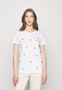 ONLY - ONLKITA LIFE BOX  - T-Shirt print - bright white/sunshine/pumice stone
