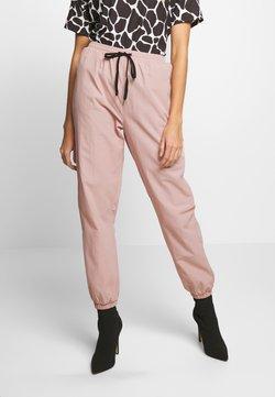 Missguided - PINK CONTRAST TIE - Jogginghose - pink