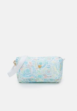 Versace - BAG FABRIC - Borsa fasciatoio - light blue/multicolor/gold