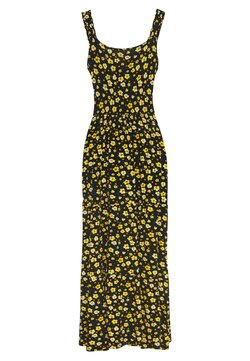 Dorothy Perkins - DITSY RUFFLE STRAP DRESS - Maxiklänning - black