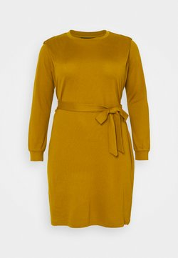 Vero Moda Curve - VMFRYA ABOVE KNEE DRESS - Strickkleid - dried tobacco