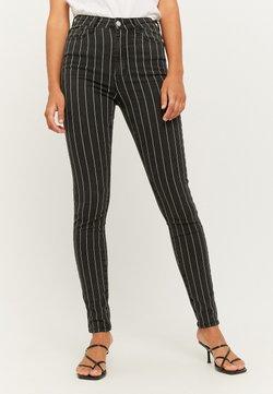 TALLY WEiJL - MIT NADELSTREIFEN - Jeans Skinny Fit - black