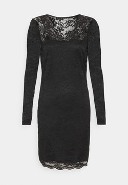 Vila - VIELLISA V NECK DRESS - Etuikleid - black