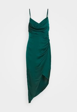 Forever New - KAHLIA ASYMMETRIC COWL NECK DRESS - Cocktailkleid/festliches Kleid - dark green