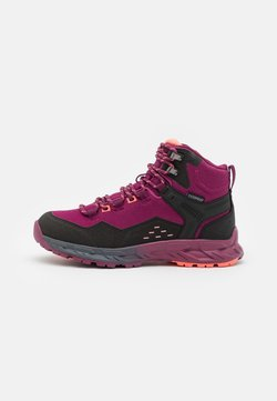 Hi-Tec - VERVE MID WP WOMENS - Hiking shoes - violet/watermelon red/black
