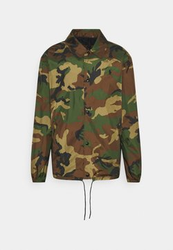 Polo Ralph Lauren - PLAINWEAVE COACH'S JACKET - Leichte Jacke - khaki