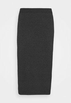 Vila - VICOMFY SKIRT - Pencil skirt - dark grey melange