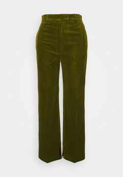 The Kooples - SUIT PANTS - Trousers - dark green