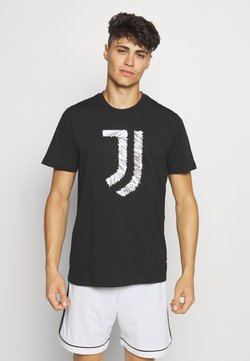 adidas Performance - JUVENTUS FOOTBALL SHORT SLEEVE GRAPHIC TEE - Pelipaita - black/white