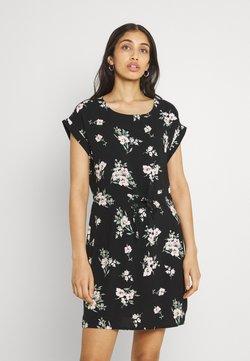 Vero Moda - VMSIMPLY EASY SHORT DRESS  - Vapaa-ajan mekko - black/sandy