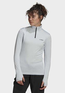 adidas Performance - TERREX EVERYHIKE HALF-ZIP FLEECE JACKET - Fleece jacket - blue