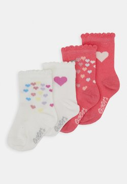 Ewers - BABY HEARTS 4 PACK - Sokken - pink/creme