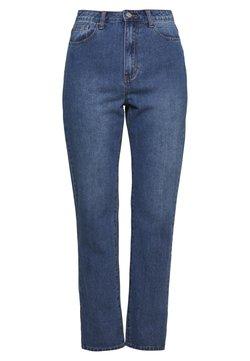Missguided Tall - WRATH HIGHWAISTED SPLIT HEM LEG JEAN MID WASH - Straight leg jeans - mid wash