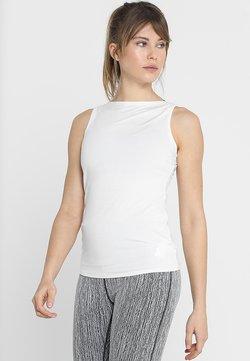 Curare Yogawear - TANK BOAT NECK - Top - white