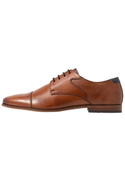Pier One - LEATHER - Zapatos con cordones - cognac