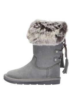 Next - GREY TALL FAUX FUR PULL-ON BOOTS (OLDER) - Snowboot/Winterstiefel - grey