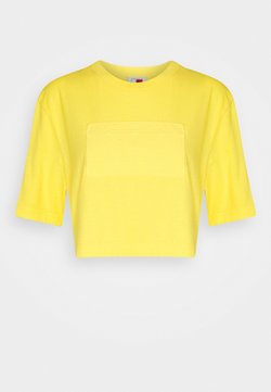 Tommy Hilfiger - LOGO CROPPED TEE - T-shirt basique - marigold yellow