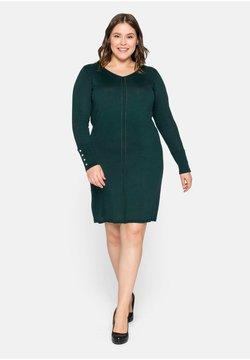 Sheego - Jerseykleid - tiefgrün