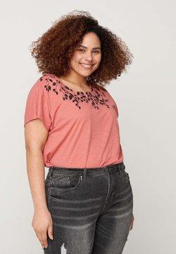 Zizzi - T-Shirt print - rose