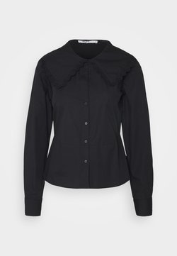 NA-KD - EMBROIDERY COLLAR - Camicia - black
