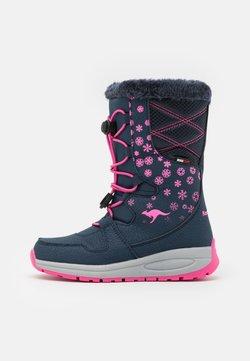 KangaROOS - K-GLAZE RTX - Snowboot/Winterstiefel - dark navy/daisy pink
