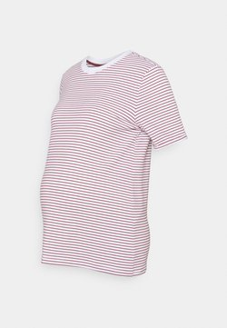 Pieces Maternity - PCMRIA FOLD UP TEE - T-Shirt print - bright white/apple butter