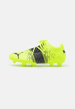 Puma - FUTURE Z 2.1 FG/AG - Moulded stud football boots - yellow alert/black/white