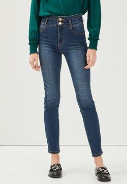 Cache Cache - MIT HOHER TAILLE - Jeans Slim Fit - denim stone
