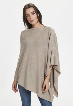 Part Two - RIANNA PO - Cape - light camel melange