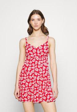 Hollister Co. - BARE DRESS - Jerseykleid - red daisy