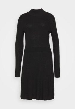 GAP - FIT AND FLARE  - Vestido de punto - true black