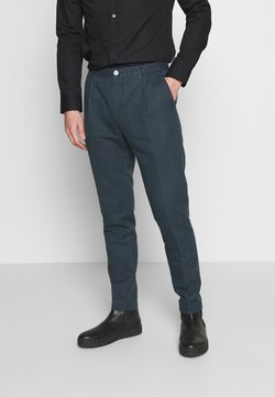 Tommy Hilfiger Tailored - WASHED REGULAR FIT PANT - Puvunhousut - blue