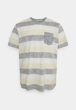 Jack & Jones - JJSTRIPE TEE CREW NECK - T-Shirt print - navy blazer