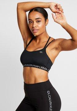 Calvin Klein Performance - LOW SUPPORT BRA - Sport BH - black
