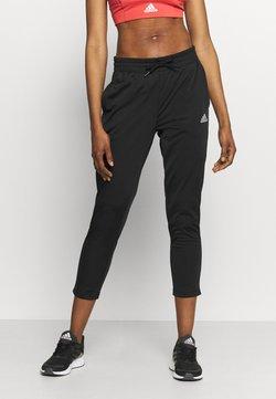 adidas Performance - Spodnie treningowe - black/white