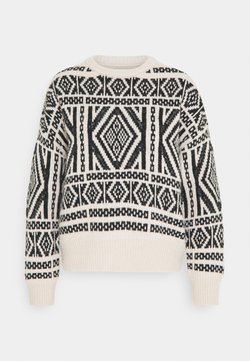 ONLY - ONLWILMA  - Strickpullover - pumice stone/black